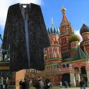 1990s vintage glitter black velvet coat size large